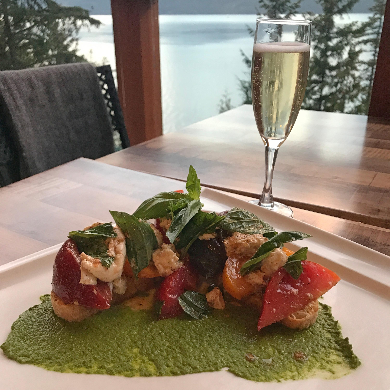 Kingfisher Restaurant - Caprese Bruschetta