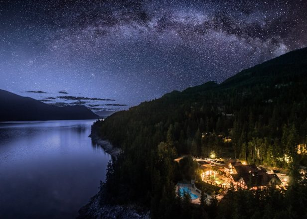 Picture of Halcyon Hot Springs under the stars