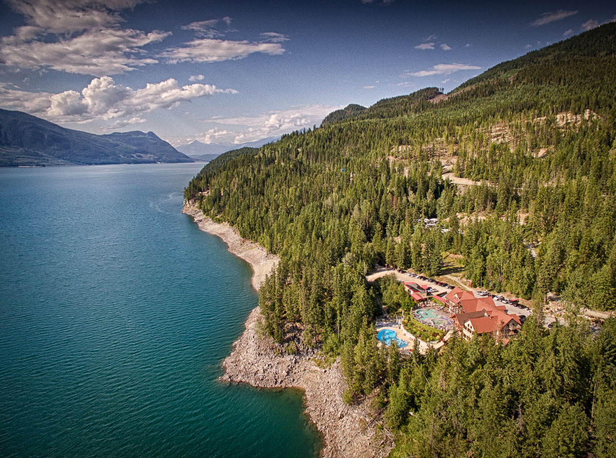 Aerial view of Halcyon Hot Springs