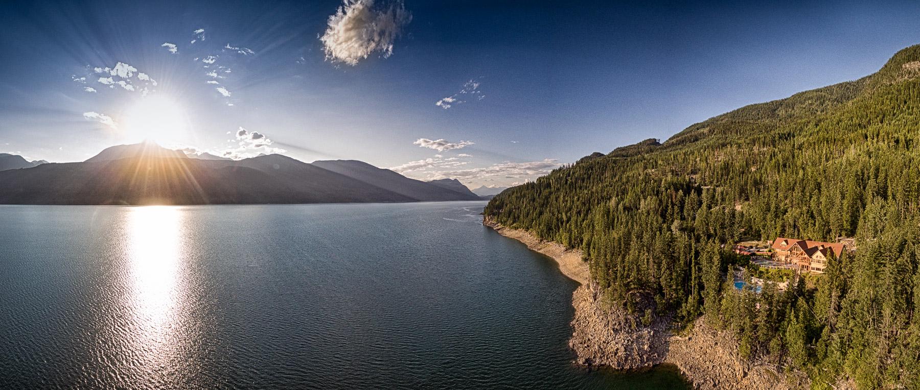 Lake and Mountain Views at Halcyon Hot Springs