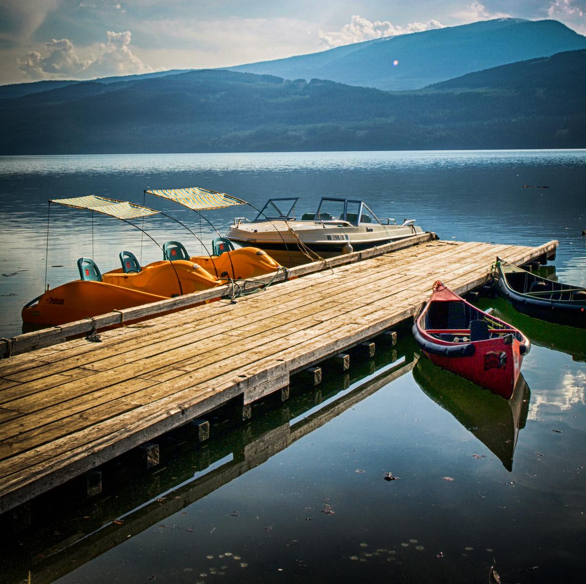 Boats at Halcyon Hot Springs