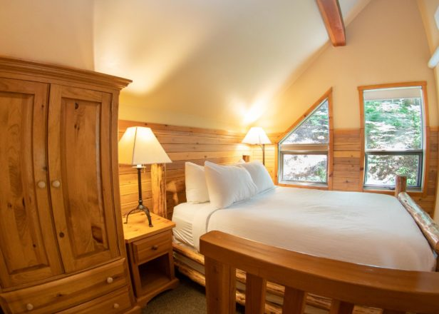 Picture of two-bedroom chalet bedroom