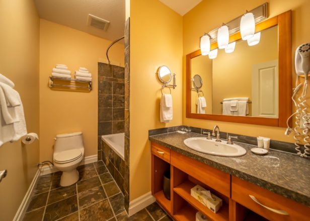 Picture of small studio suite bathroom