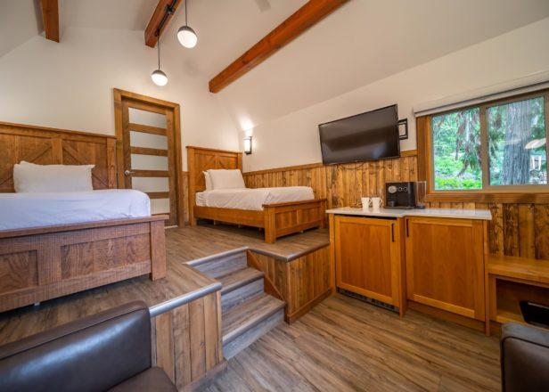 Interior view of twin cabin