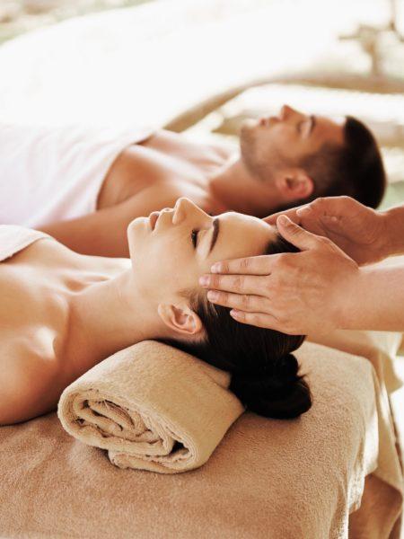 Couple on massage tables