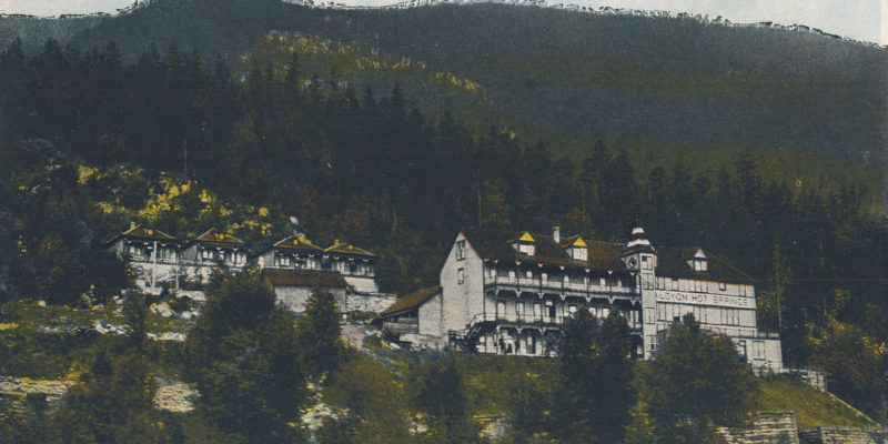 Halcyon Hot Springs hotel, circa 1900
